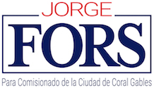 Jorge Fors para Comisionado de la Ciudad de Coral Gables Logo