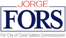 Jorge Fors for City of Coral Gables Commissioner  Logo